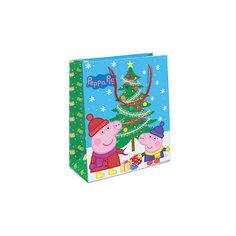 """Пакет подарочный """"Пеппа и елка"""" 230*180*100 Росмэн"""