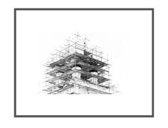 "Авторский постер ""Бег по вертикали"" George Mordvin"