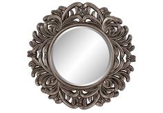 "Зеркало в раме модерн ""Palm Silver"" Art Zerkalo"
