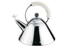 Чайник со свистком белый Alessi