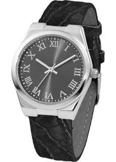 Часы на браслете с крокодиловым тиснением (бордовый/розово-золотистый) Bonprix