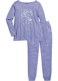 Пижама (антрацитовый меланж/серебристы) Bonprix