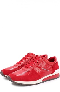 Комбинированные кроссовки на шнуровке Michael Michael Kors