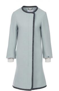 Пальто прямого кроя с укороченным рукавом и манжетами Chloé