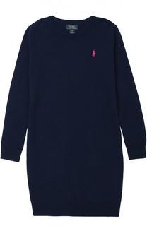 Платье джерси с логотипом бренда Polo Ralph Lauren