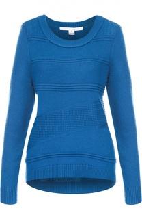 Пуловер фактурной вязки с круглым вырезом Diane Von Furstenberg