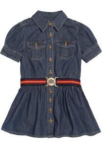 Джинсовое платье с поясом Polo Ralph Lauren