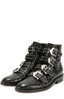 Кожаные ботинки с заклепками Givenchy