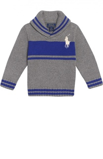 Хлопковый свитер с шалевым воротником Polo Ralph Lauren