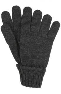 Вязаные перчатки из шерсти с аппликацией Dolce & Gabbana