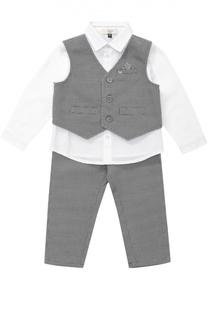 Рубашка в комплекте с брюками и жилетом Giorgio Armani