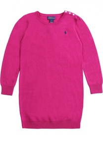 Шерстяное платье с логотипом бренда Polo Ralph Lauren