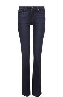 Расклешенные джинсы со стрелками и контрастной прострочкой Paige