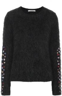 Укороченный пуловер прямого кроя с цветочной вышивкой Dorothee Schumacher