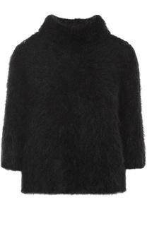 Пуловер прямого кроя с укороченным рукавом и кружевной вставкой Dorothee Schumacher