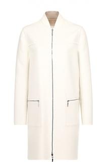 Пальто прямого кроя на молнии с пуховой подстежкой Moncler