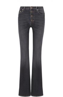 Расклешенные джинсы с завышенной талией и декоративными пуговицами Sonia Rykiel