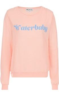 Пуловер прямого кроя с контрастной надписью Wildfox