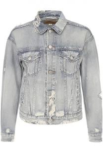 Укороченная джинсовая куртка с потертостями Denim&Supply by Ralph Lauren