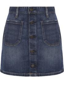 Джинсовая мини-юбка с накладными карманами Denim&Supply by Ralph Lauren