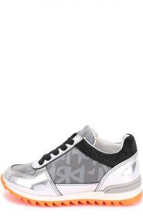 Комбинированные кроссовки с принтом Giorgio Armani