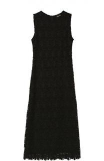 Кружевное приталенное платье с высоким разрезом Ermanno Scervino