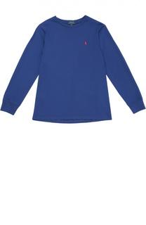 Хлопковый лонгслив с круглым вырезом Polo Ralph Lauren