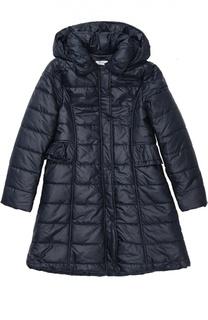 Приталенное пальто с капюшоном Aletta