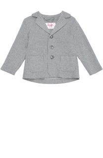 Однобортный пиджак с рисунком в полоску Il Gufo