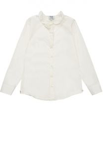 Хлопковая блуза с оборками Aletta