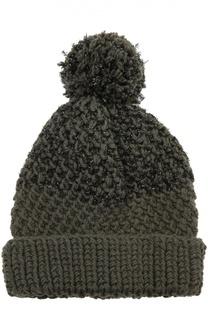 Шерстная шапка с декоративной отделкой 7II