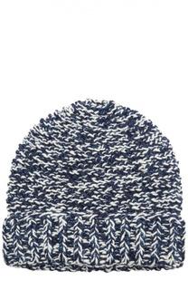 Вязаная шапка с отворотом 7II