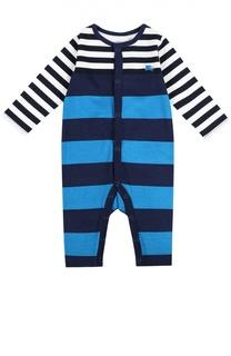 Пижама из хлопка с рисунком в полоску Burberry