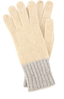 Кашемировые перчатки с контрастными манжетами Colombo