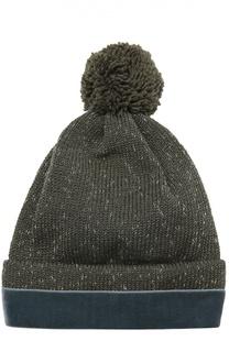 Вязаная шапка из металлизированных нитей 7II