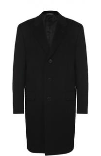 Однобортное пальто из смеси шерсти и кашемира Canali