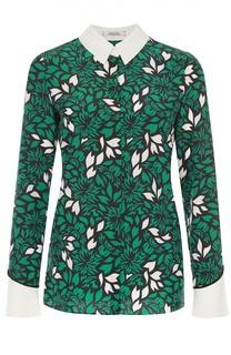 Шелковая блуза прямого кроя с цветочным принтом Dorothee Schumacher