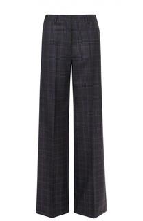 Шерстяные широкие брюки в клетку Dries Van Noten