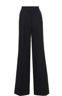 Шерстяные расклешенные брюки со стрелками Dries Van Noten