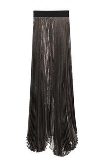 Плиссированная юбка-макси с металлизированной отделкой Alice + Olivia