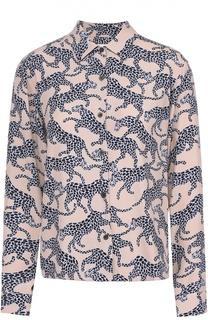 Блуза прямого кроя со звериным принтом Dries Van Noten