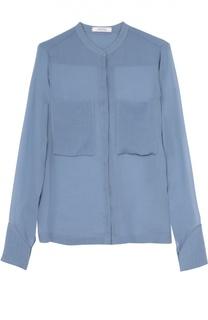 Шелковая блуза прямого кроя с накладными карманами Dorothee Schumacher