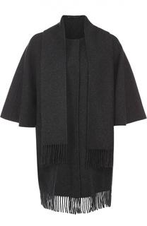 Пальто прямого кроя с коротким рукавом и шарфом Diane Von Furstenberg