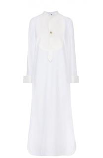 Платье-рубашка свободного кроя с высокими разрезами Erika Cavallini