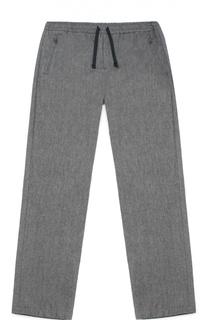 Хлопковые брюки прямого кроя с эластичным поясом Dolce & Gabbana