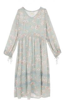 Платье-макси с завышенной талией и цветочным принтом Denim&Supply by Ralph Lauren