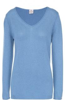 Кашемировый удлиненный пуловер с V-образным вырезом FTC