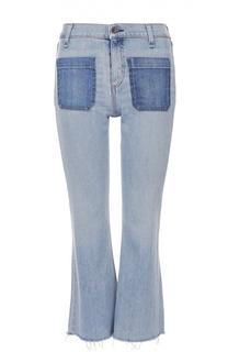 Укороченный расклешенные джинсы с бахромой Rag&Bone Rag&Bone