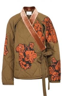 Жакет-кимоно с контрастной цветочной отделкой 3.1 Phillip Lim