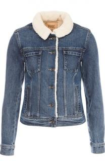 Джинсовая куртка с отложным воротником Paige